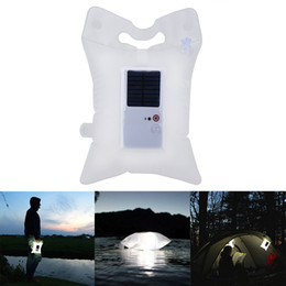 Discount portable night lights - 2018 New Foldable Inflatable Solar Power LED Night Light Portable Lantern Solar Lamp for Outdoor Camping Hiking Emergenc