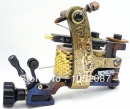 Machines À Tatouer À La Main Damas Pas Cher-Gros-2015 VENTE haute performance Damas main tatouage Machine Gun 10 Wraps Bobines Pour expédition Tattoo Needle gratuit