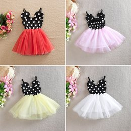 Barato Saias 6t-New Girls Braces Saia Bubble Skirt Sequins Summer TUTU Saias Grenadine Dots Moda Meninas Vestidos 2-6T
