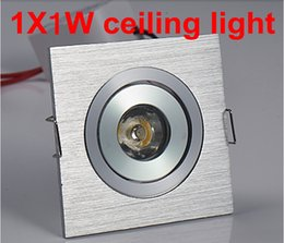 $enCountryForm.capitalKeyWord Canada - Free Shipping 10pcs lot 1w Square LED Downlight Silver Ceiling Lamp Pure Warm White Spot Lighting