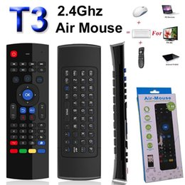 Gyroscope fly air mouse android online shopping - T3 GHz Fly Air Mouse Mini Keyboard IR Learning No Microphone Wireless Remote Control Axis Gyroscope Gamepad for Android TV Box Dongle