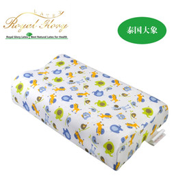 kids pillow 44276cm latex sleeping pillow for children latex pillow baby neck pillow bedding from thailand