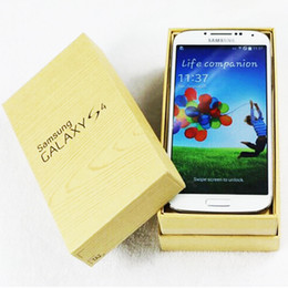 Wholesale Original Samsung Galaxy S4 I9500 Unlocked MP Camera inch GB GB Android Quad Core Smartphone G WCDMA Refurbished phones
