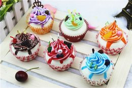 Cupcakes Mix Australia - Free shipping 20pcs-rare squishy cake cupcake home decorated bread model soft squishies jumbo slow rising MIX COLOR wholesale