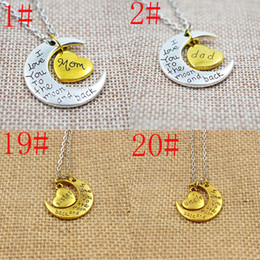 $enCountryForm.capitalKeyWord Canada - New I Love You To The Moon and Back Heart Family Members Mom Dad Son Brother Sister Daughter Grandma Uncle Aunt Pendant Necklaces