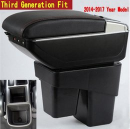 Usb Cup Holder Canada - For Honda Fit Jazz 3rd generation armrest box central Store content Storage box with cup holder ashtray USB interface 2014-2017