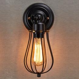 $enCountryForm.capitalKeyWord Canada - Free shipping Modern Vintage Industrial Loft Metal Brown Rustic Wall Light Wall Lamp Black new for bedroom hallway coffee bar