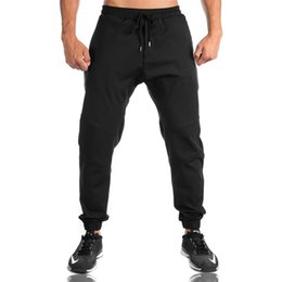 Chinese  Wholesale- 2017 High Quality Jogger Pants Men Fitness Bodybuilding Gyms Pants For Runners Brand Clothing Autumn Sweat Trousers Britches manufacturers