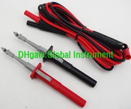 Probe Clip Canada - insulation piercing alligator Probes clip + fluke TL224 test leads red black