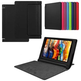 red tablet Canada - 30pcs Business PU Leather Cover for Lenovo YOGA Tablet 3 10 Pro Tablet Case
