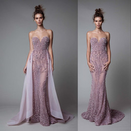 $enCountryForm.capitalKeyWord NZ - Glittering See Through Evening Gown With Over-skirt Sweetheart Sequins Beaded Backless Mermaid Evening Dresses Amazing Sexy Prom Dresses