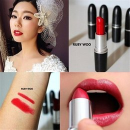 Yum Candy Canada - Women MC top quality Makeup Luster candy Yum yum Lipstick Frost Lipstick Matte Lipstick 3g 24 colors lipstick with english name via dhl