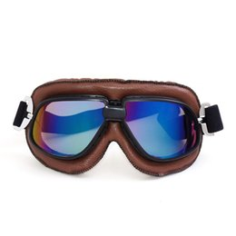 $enCountryForm.capitalKeyWord Canada - 2017 NEW Arrival Classical Brown Leather Vintage Motorbike Goggles Anti-UV Retro Scooter Goggles Motorcycle Riding Glasses