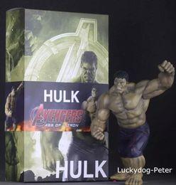 Red Hulk Figures NZ - Free Shipping Hulk The Avengers Action Figure Dark Hulk Doll PVC ACGN figure Garage Kit Toy Brinquedos Anime 30CM