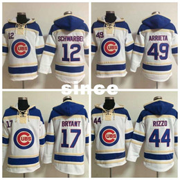 8d2e8d99e ... chicago cubs victory arch pullover hoodie 6ca04 dff68  discount hoodie  17 kris bryant jersey 44 anthony rizzo 34 jon lester white stitched  baseball 30