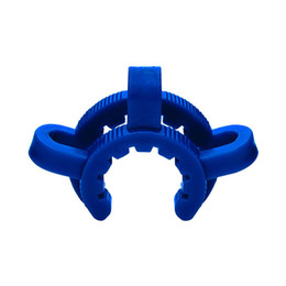 Glass Stem 14mm Pipe UK - Down Stem Clip 18mm 14mm plastic keck clips used for glass joints bong different color water pipe clips
