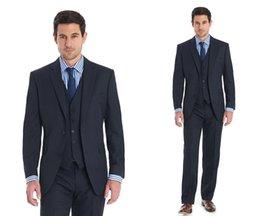 $enCountryForm.capitalKeyWord Canada - Custom Made Slim Fit Groom Tuxedos Black Side Slit Best Man Suit Wedding Groomsman Men Suits Bridegroom (Jacket+Pants+Tie+Vest)