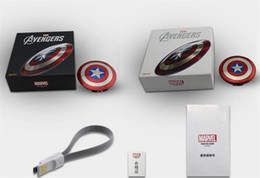 Branded Usb Power Bank Canada - Power Bank 6800mAh Captain America Power bank Dual USB charger for smart mobile phone 6800mah Universal Portable pack free DHL