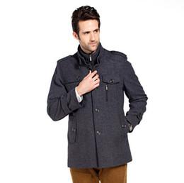 Discount Mens Beige Pea Coat   2017 Mens Beige Pea Coat on Sale at ...