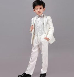 $enCountryForm.capitalKeyWord Canada - new Boy s Formal Wear Kids Child Formal Suit Formal Suits Boys Wedding Tuxedo White Children Clothes (Jacket+Tie+Pants+Vest)