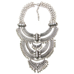 $enCountryForm.capitalKeyWord UK - New Europe and the United States big exaggerated necklace retro series of thick multi-layer plating alloy jewelry dinner dress necklace