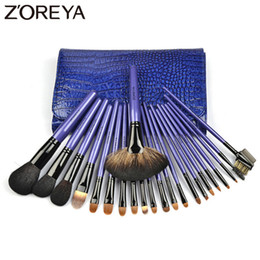 Light kits brands online shopping - Zoreya Brand Top Quality pieces Set Lady Make Up Brushes Kolinsky Hair Professional Makeup Brushes Set For Women Cosmetic Tool