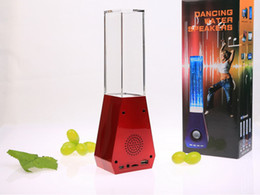 Discount silver sounds - Dancing Water Speakers TF Slot AUX Port FM Radio USB Speaker Black Silver Red Blue DHL Free MIS106