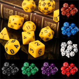 Discount dungeons dragons dice - 10pcs Set Polyhedral Dungeons & Dragons Daggerdale Dice For DnD MTG RPG Poly Dice Board Games Gathering Toy with Dice Ba