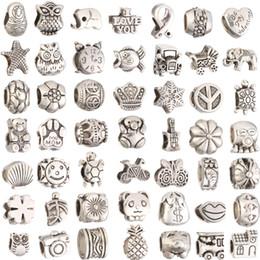 Ingrosso Mescoli il branello allentato dei fori del grande foro di stile 29 per il braccialetto dei gioielli di Pandora DIY per il braccialetto europeoNecklace