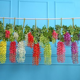 Simulated Wisteria Flower Wedding Party Decoration Multi Colors DIY Craft Flowers Home Kids Room Decor 2 15xk C R