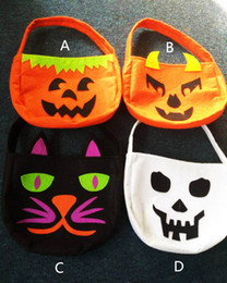 fashion cat cartoon 2019 - 4 Design children Fashion cartoon pumpkin cat bags 2015 new boy girl cute Halloween Xmas party pumpkin bags B001 cheap f