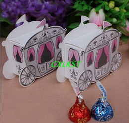 Barato Caixas De Doces Da Princesa-Enchanted Mini Carriage Princess Wedding Party Favor Gift Candy Gift Boxes de boa qualidade Brand New Free Shipping