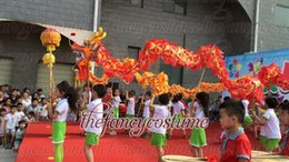 b77222315 D 7.9 m size 6 # 8 kid red silk CHINESE DRAGON DANCE Folk Festival  Celebration Costume