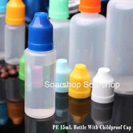 Liquid Electronic Cigarette Australia - Dropper Bottle For E liquid E juice With ChildProof Caps 15ml electronic cigarette liquid Plastic PE Empty Bottles In Stock