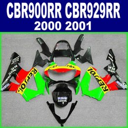 Honda Cbr929 Australia - Free Customize bodykits for HONDA CBR 900 RR CBR929 00 01 fairing kit CBR900RR 2000 2001 green red REPSOL fairings set HB95