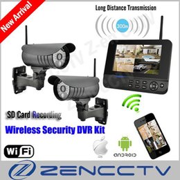 "Digital Security Systems Canada - New 7"" LCD Monitor Wireless Surveillance Camera System Kit IP Remote Via Smart Phone Alarm Home Security Cameras de seguridad"