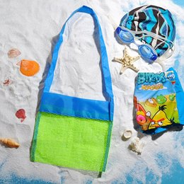 baby threads clothing NZ - Wholesale- Applied Enduring Bag Children Clothes Toys Mesh Beach Baby Towel Nappy Toy Away Collection Sand Folding Ftbcg