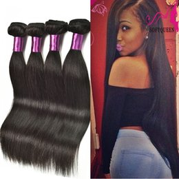 weft extensions remy 18 22 2019 - Unprocessed Brazilian Hair Straight Weave Peruvian Malaysian Indian Remy Virgin Straight Hair Extensions Straight Human