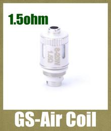 Discount electronic replacement - GS-Air Coil BCC Atomizer dual Coil Head Electronic Cigarette Vaporizer Coils Heads replacement core 1.5ohm FJ065