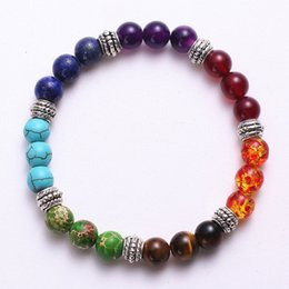 Ladies bangLes stones online shopping - Fashion Lava Rock Beaded Simple Frosted Women Bracelets Fashion Natural Stone Charm Jewelry Color Stone Ladies Cuffs Bangles Bracelet