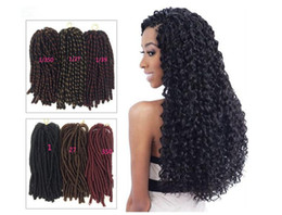 synthetic hair wholesalers NZ - Empty Heart Dirty Braided Wig Female Soft Dread Lock African Black Pigtails Synthetic Hair 3 Colors 14 Inch