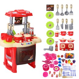 $enCountryForm.capitalKeyWord Canada - Baby Miniature Kitchen Plastic Pretend Play Food Children Toys With Music Light Kids Kitchen Cooking Toy Set For Girls Games Hot