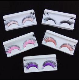 573c9b869d3 5 Colors 3D Feather Style Fake Eyelashes Lengthened Hair False Eyelashes  Feather Exaggerated Art Eyelashes Party Makeup CCA8383 100pair