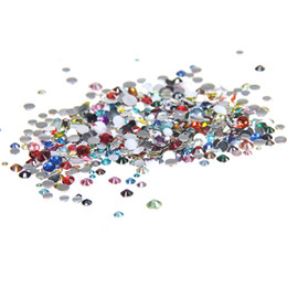 Hotfix resin online shopping - mm And Mixed Sizes Mixed Colors Resin Rhinestones Non Hotfix Glitter Beauty For Nails Art Backpack Design Decorations