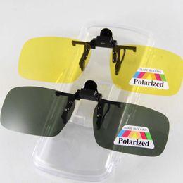 $enCountryForm.capitalKeyWord Canada - Brand New Polarized Sunglasses Clip-on Flip up Sun Glasses Eyewear Eyeglasses Shade Shield Deep Green Yellow Anti-reflective UV Protect