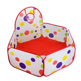 $enCountryForm.capitalKeyWord NZ - 1m 1.2m 1.5m Baby Playpen With Basket Children Game Tent Portable Foldable Playpen Baby Cots For Pit Balls Funny Toys