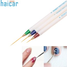 Barato Melhor Conjunto De Arte Unha-Atacado- Melhor oferta Haicar 3PCS / Set Nail Art Brush Design Set Dotting Painting Drawing Brush Pen Tools