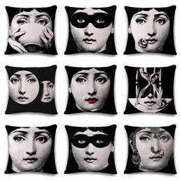 Face Printed Cushion Cover Canada - 8 Size Girl Face Printed Cotton Linen  Throw Pillow C d5b6ad1f1
