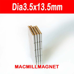 pack rods Canada - Dia3.5x13.5mm magnet, Whole Sales Brand New Rod Strong Neodymium Permanent Magnet (25pcs pack), free shipping