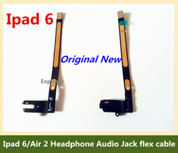 Audio Jack Parts Canada - For ipad 6 Air 2 Headphone Audio Jack flex cable Replacement Part earphone Original New Black White for Ipad Air 2 Test Passed